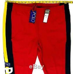 Polo Ralph Lauren Hi Tech Red Sweat pants Jogger Rare Script Men's L, XL (Ni1)