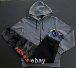 Polo Ralph Lauren Men L Double Knit Tracksuit Jogger Sweat Pants Jacket NEW