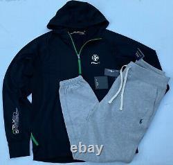 Polo Ralph Lauren Men M RLX Sport Jacket Fleece Jogger Sweat Pants Tracksuit NEW