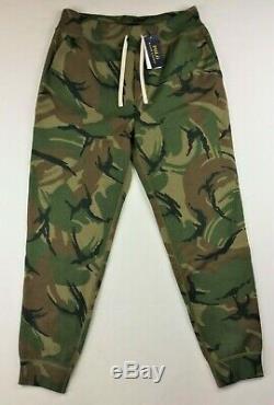 Polo Ralph Lauren Men Pony Logo Military Army Camo Jogger Pants Sweatpants M