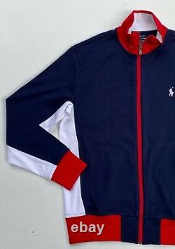 Polo Ralph Lauren Men Size L Color Block Tracksuit Jogger Sweat Pants Jacket NEW