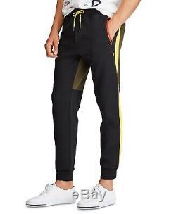 Polo Ralph Lauren Men's Company Olive Green/Black Double Knit Jogger Pants