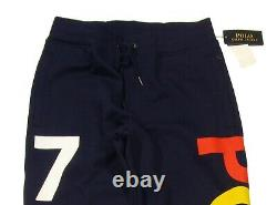 Polo Ralph Lauren Men's Cruise Navy POLO 1967 Double Knit Graphic Jogger Pants