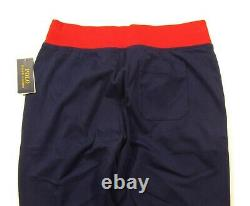 Polo Ralph Lauren Men's French Navy Cotton Interlock Jogger Track Pants