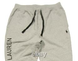 Polo Ralph Lauren Men's Grey Heather Logo Graphic Fleece Lined Jogger Pants