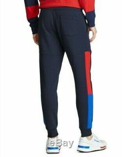 Polo Ralph Lauren Men's Navy Multi Logo Print Double Knit Jogger Pants