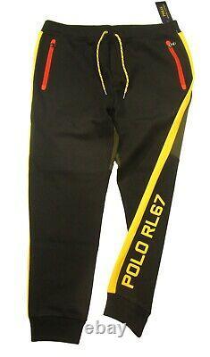 Polo Ralph Lauren Men's Olive/Black Colorblock Double Knit Jogger Pants