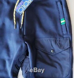 Polo Ralph Lauren Men's Pants Blue Small Hi Tech Hybrid Sweatpants $198 New