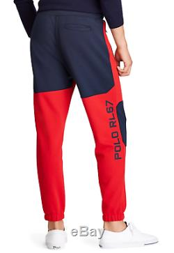 Polo Ralph Lauren Men's RL 2000 Red/Navy Double Knit Jogger Pants