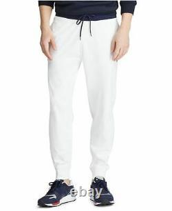 Polo Ralph Lauren Men's White Cotton Interlock Jogger Track Pants