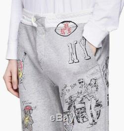 Polo Ralph Lauren Mens Graphic Jogger Pants C004883 Grey Heather-Size XL