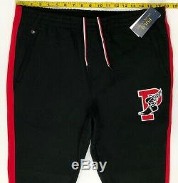 Polo Ralph Lauren P Wing Jogger Pants Black Red Stadium Men's M, L, XL