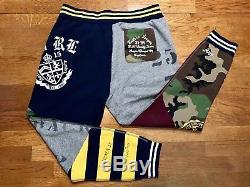 Polo Ralph Lauren Patchwork Varsity Joggers Pants Mens Size XL