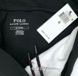 Polo Ralph Lauren RL67 Black White Jogger Sweat Pants Snowbeach Men's M, L