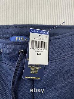Polo Ralph Lauren Spell Out Mesh Jogger Sweatpants Navy New WithTags Mens L