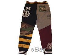 Polo Ralph Lauren Varsity Patchwork Mens Fleece Bleecker Jogger Sweat Pants XXL