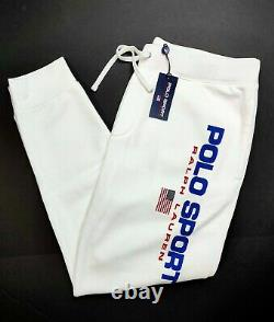 Polo Sport Ralph Lauren Classics White USA Logo Jogger Sweatpants Sizes M-L-XL