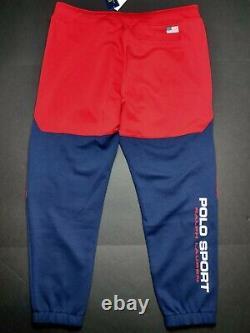 Polo Sport Ralph Lauren L, XL, 2XL Cruise Navy/Red Double Knit Jogger Pants