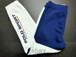 Polo Sport Ralph Lauren Men's Large White Double Knit Jogger Pants