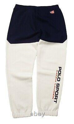 Polo Sport Ralph Lauren Men's White Double Knit Jogger Pants
