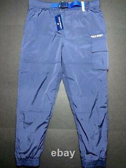 Polo Sport Ralph Lauren Retro VTG Utility Jogger Cargo Pants Navy Neon