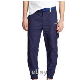 Polo Sport Ralph Lauren Utility Jogger Pants Men Size 2XL Cargo Navy Neon New