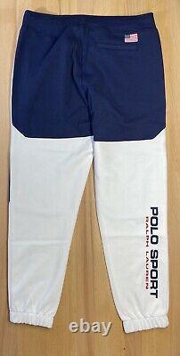 Polo Sport Ralph Lauren White Double Knit 12M Yacht Challenge Joggers Medium