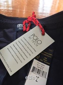 Polo hi tech Hybrid Pant Jogger Navy Blue Retro Collection Rare Mens Large