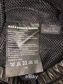 RARE $425 ALEXANDER WANG Vintage Fleece Black Wool Jogger Sweatpants Men Size 32