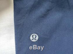 RARE Lululemon Mens Size L Chill Twill Nautical Navy Pant Herringbone Surge