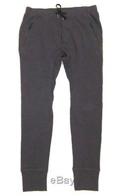 RARE Mens Lululemon Focus Pant Slim Skinny Jogger Zipper Pockets Pique Soot L