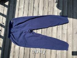 RARE Patagonia Fleece Sweat Pants Jogger Mens Large Blue Navy