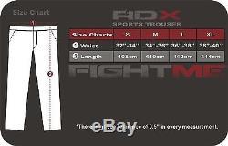 RDX BOXE Fleece Pants Trousers UFC MMA Gym Bottoms Jogging Joggers Shorts Men BL