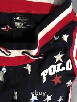 Ralph Lauren Polo Metallic Silver Star XL Sweat Pants Jogger Star Print, Hi Tech