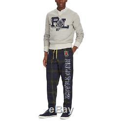 Ralph Lauren Polo Track Tartan Drawstring Patch Logo Relax Pants Athletic Jogger