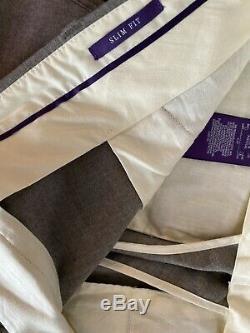 Ralph Lauren Purple Label Matlock Wool Flannel Cargo Joggers Slim Trousers 32