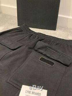 Rick Owens DRKSHDW Drawstring Prison Jogging Black Pants Size Small RRP £385