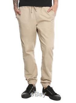 Rude Chinos Chino Skinny Jogger Crash Pants Mens S M L XL 2xl Elastic Cuff New