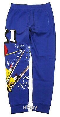 Special! Polo Ralph Lauren Men's Blue Ski Multi Skier Print Cotton Jogger Pants