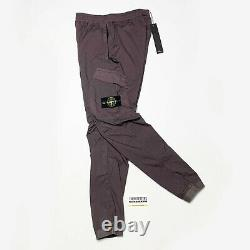 Stone Island Cargo Utility Pants Joggers Mens Cuffed Waist 30 W Deep Purple M 33