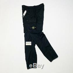 Stone Island Cargo Utility Pants Joggers Mens Cuffed Waist 34 W Black Si Men L