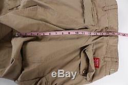 Supreme Authentic Mens Beige Ripstop Cargo Jogger Pants 34 x 29