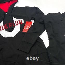 TRUE RELIGION Mens Sweatsuit Hoodie & Jogger Black Size S