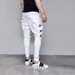 Techwear Street Edge Mens Big Buckle Cargo Jogger Black White Pants By Guylook