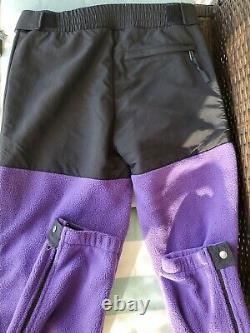 The North Face Men's Large 95 Retro Denali Full Zip Fleece Pants Hero Purple