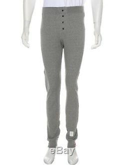 Thom Browne Men's Grey Rib Knit Joggers, Size 3 (Medium), NWT