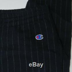 Todd Snyder x Champion Mens Medium Joggers Sweatpants Wool Pinstripe Pants