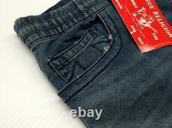 True Religion Stretch Sweat Denim Jogger Pants Sweatpants Ricky Relaxed Straight