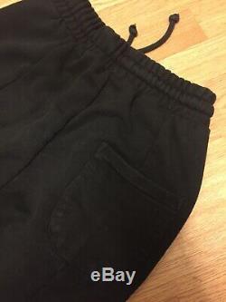 Used Vetements Mens Cotton Black Trousers Joggers Sweatpants Size L UK Seller
