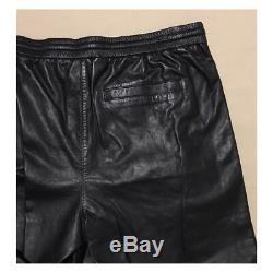 VINCE Men's Black Lamb Leather Jogger Pants Retail $895 (NWT)